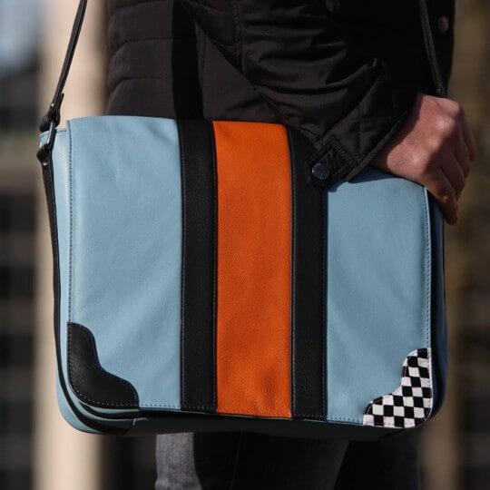 Gulf Racing Messenger bag blue
