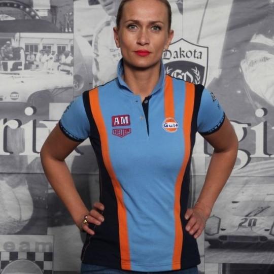 Polo Gulf Racing Team Cobalt Femme