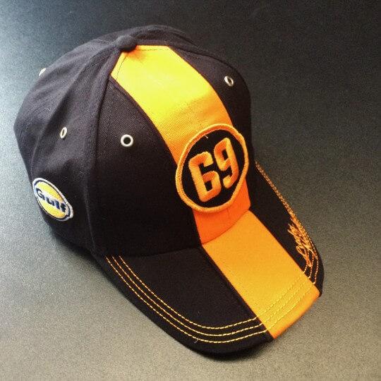Gulf Cap Orange&Black 69