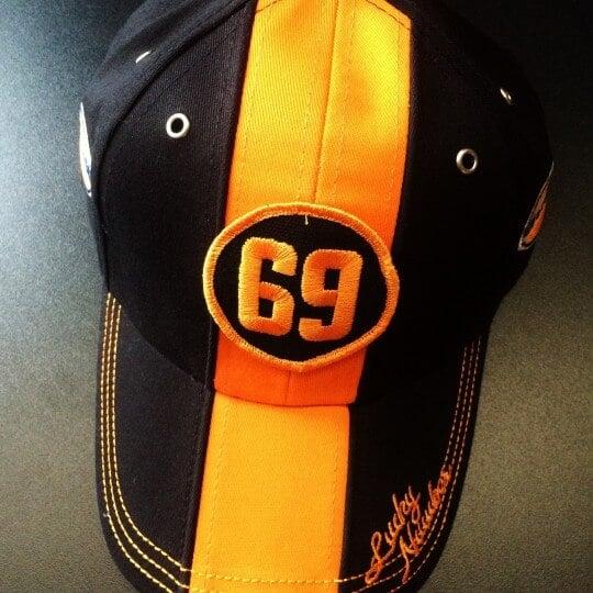 Casquette Gulf Orange&Noir 69