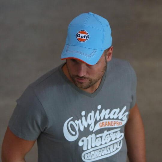 T-shirt Gulf Motors gris