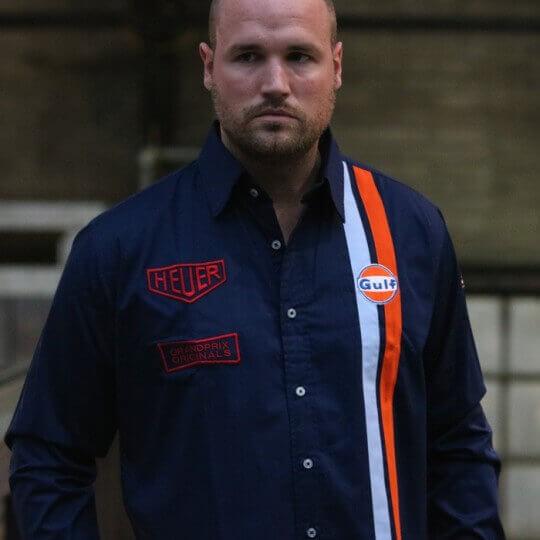 Gulf Stripe shirt navy blue
