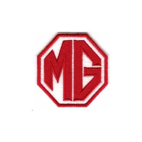 Écusson MG Rouge et Blanc 8x8cm