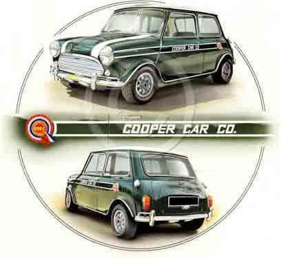 Mini Cooper verte