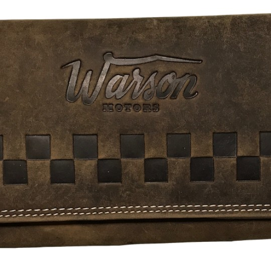PORTEFEUILLE CUIR MARRON FONCE WARSON MOTORS