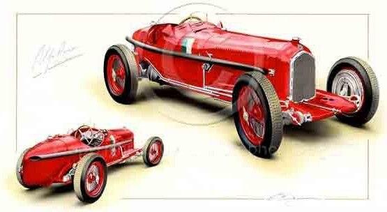 Carte postale Alfa Romeo Mono Posto
