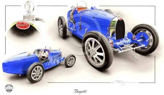 Carte postale Bugatti