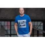 T-shirt Gulf Car 20 bleu indigo