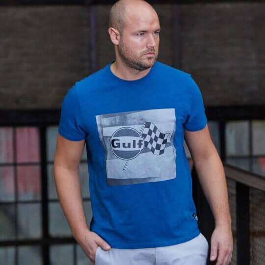 T-shirt Gulf Racing-T flag bleu