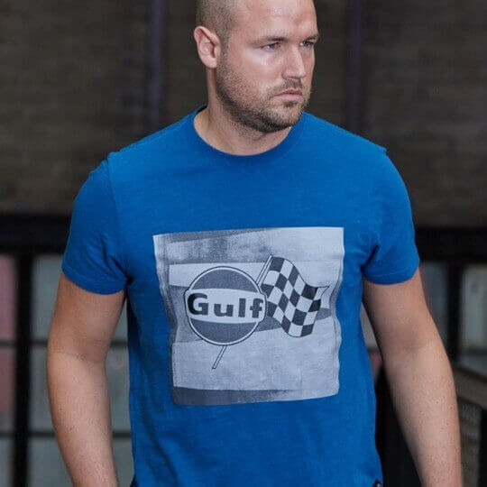 T-shirt Gulf Racing-T flag bleu