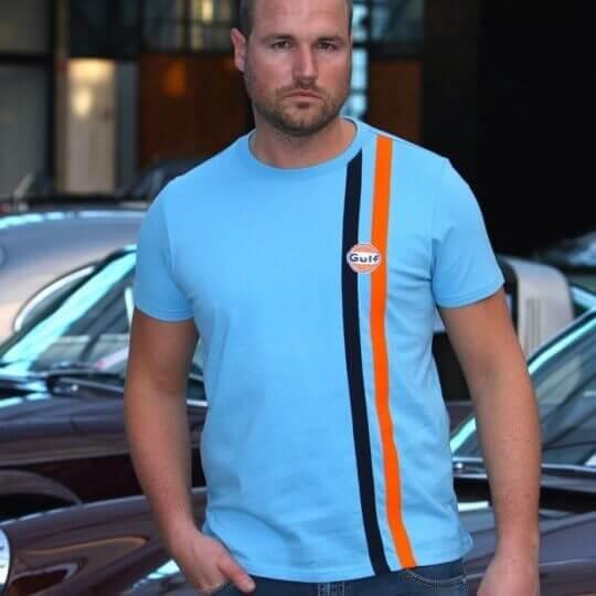 Gulf Stripe cobalt T-shirt