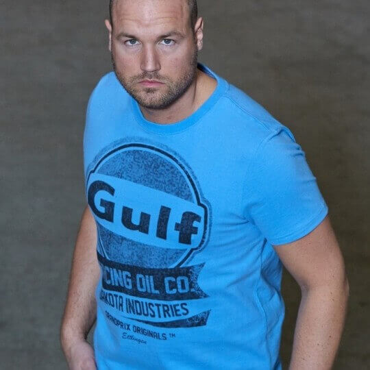 T-shirt Oil Racing Cobalt