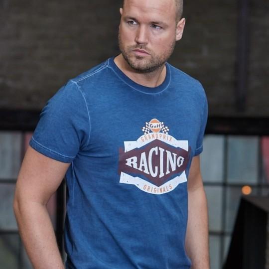 T-shirt Gulf Vintage Racing bleu