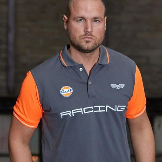 Polo Gulf Neon gris & orange