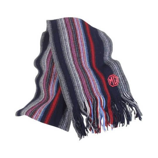 Écharpe MG en laine rayée