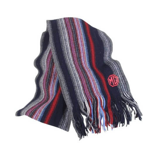 MG scarf in striped wool