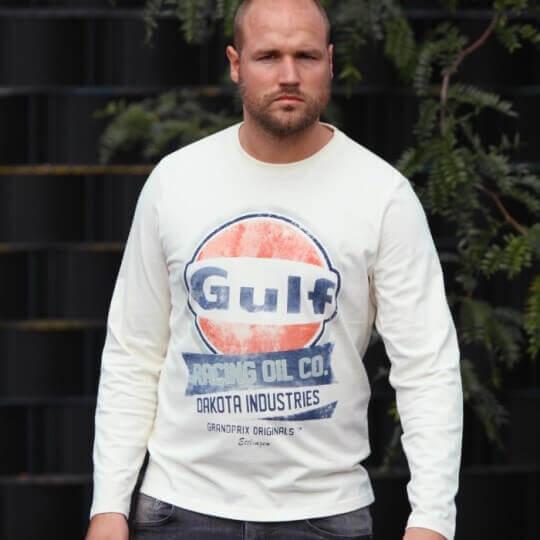 Gulf Oil Racing cream long sleeve t-shirt