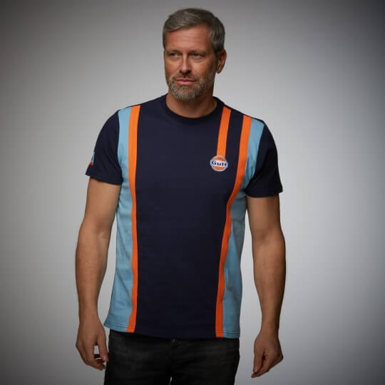 T-shirt Gulf Racing Team bleu marine