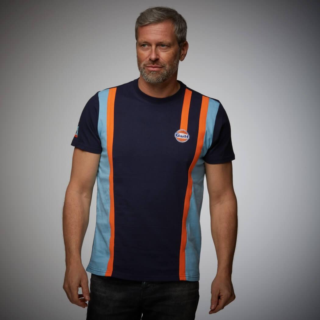 T-shirt Gulf Racing Team bleu marine