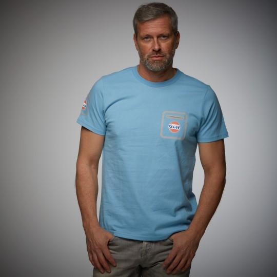 T-shirt Gulf Performance bleu