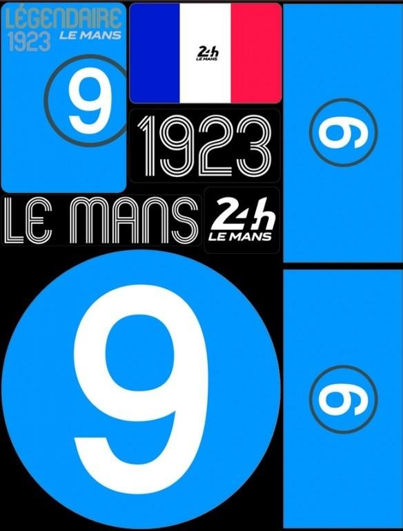 POCHETTE DE 5 PLANCHES D'AUTOCOLLANTS 1923 24H REPOSITIONNABLES