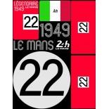 POCHETTE DE 5 PLANCHES D'AUTOCOLLANTS 1949 24H REPOSITIONNABLES