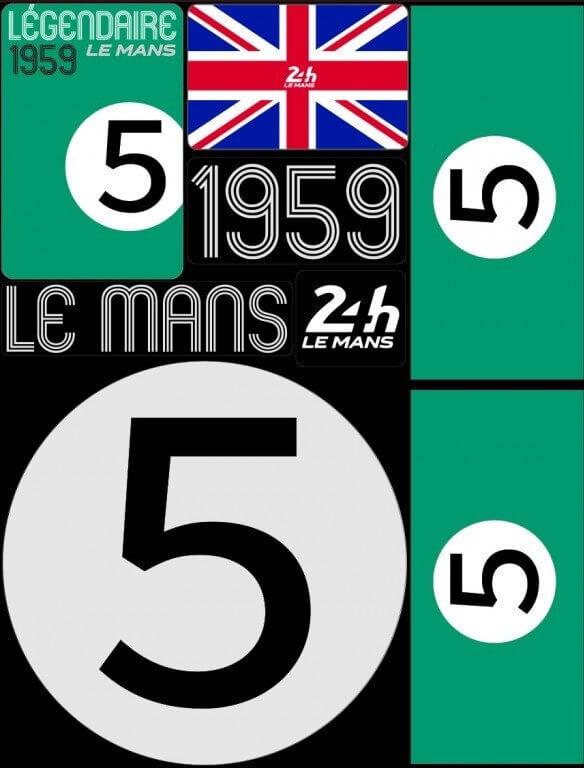 POCHETTE DE 5 PLANCHES D'AUTOCOLLANTS 1959 24H REPOSITIONNABLES