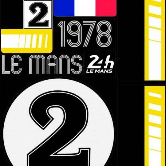 POCHETTE DE 5 PLANCHES D'AUTOCOLLANTS 1978 24H REPOSITIONNABLES