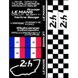 POCHETTE DE 5 PLANCHES D'AUTOCOLLANTS 1982 24H REPOSITIONNABLES