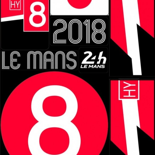POCHETTE DE 5 PLANCHES D'AUTOCOLLANTS 2018 24H REPOSITIONNABLES