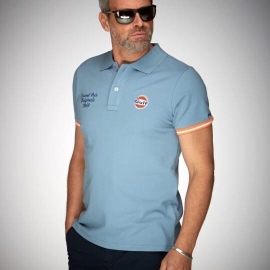 Polo GULF EL GPO bleu ciel2