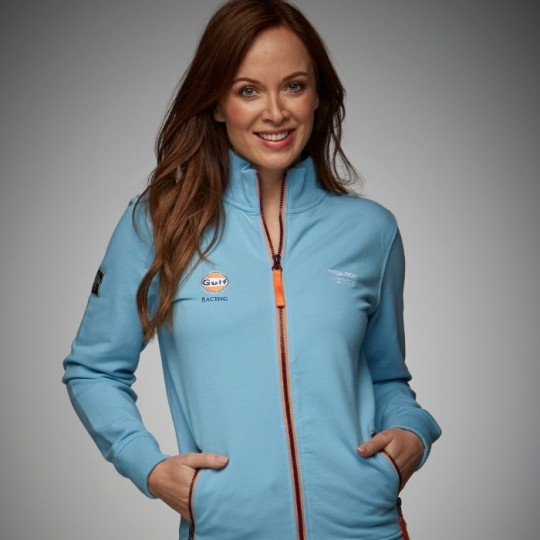 Sweat GULF Smart racing zip bleu ciel femme