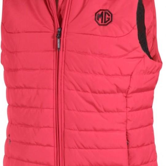Women's sleeveless jacket MG red