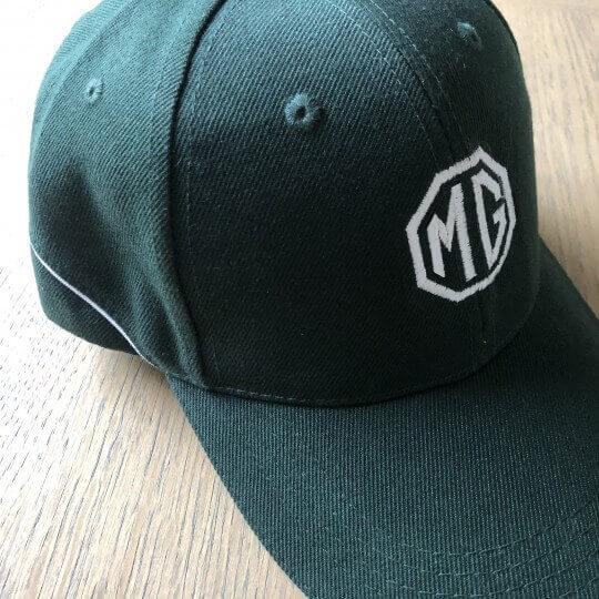 MG cap green english