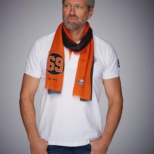 Foulard GULF black & orange 69