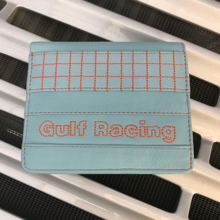 Portefeuille GULF Racing contrast bleu ciel
