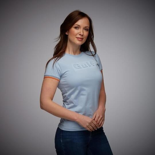 3D GULF t-shirt for women, sky blue