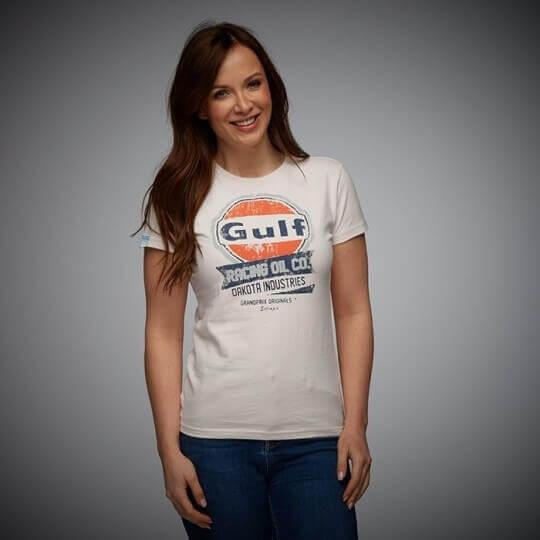 Gulf Oil Racing women's cream t-shirt
