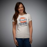 T-shirt Gulf Oil Racing femme crème