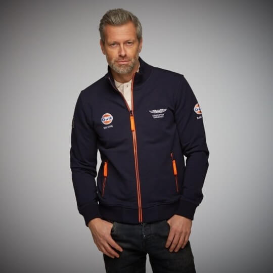 Sweat Smart Racing zip bleu marine