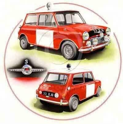 Red Rally Cooper / Mooris Cooper S
